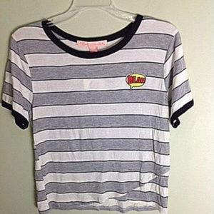 Rebellious One women's Stripes T-Shirt XL NWT